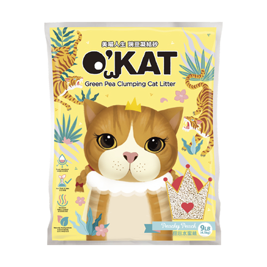 【O'KAT】Green Pea Clumping Cat Litter