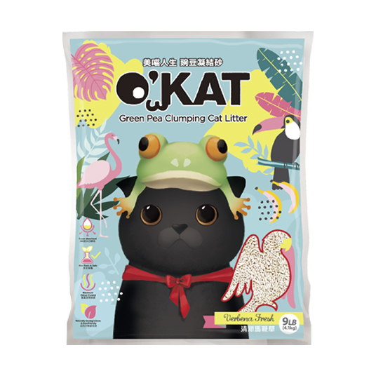【O'KAT】Green Pea Clumping Cat Litter - apple ice cream