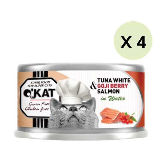 【O'KAT 】TUNA WHITE+GOJI BERRY+SALMON IN WATER