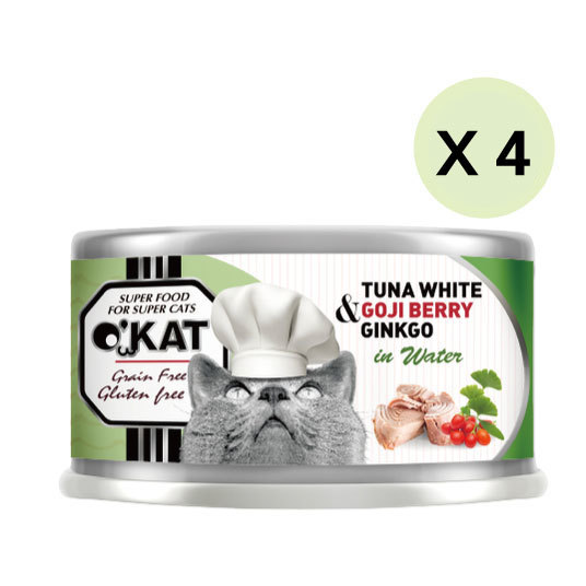 【O'KAT 】TUNA WHITE+GOJI BERRY+GINKGO IN WATER