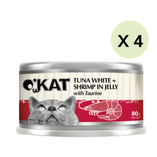 【O'KAT 】TUNA WHITE+SHRIMP IN JELLY
