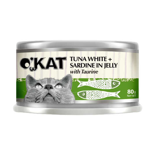 【O'KAT 】TUNA WHITE+SARDINE IN JELLY