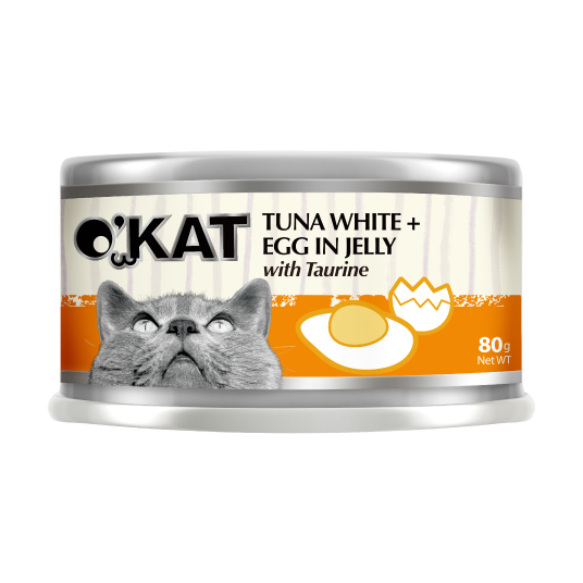 【O'KAT 】TUNA WHITE+EGG IN JELLY