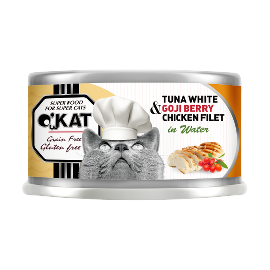 【O'KAT 】TUNA WHITE+GOJI BERRY+CHICKEN FILET IN WATER