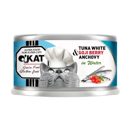 【O'KAT 】TUNA WHITE+GOJI BERRY+ANCHOVY IN WATER