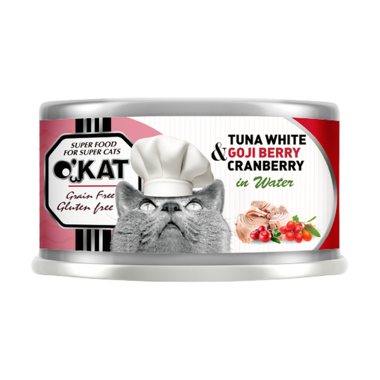 【O'KAT 】TUNA WHITE+GOJI BERRY+CRANBERRY IN WATER